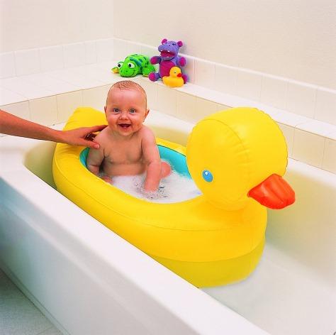 White Hot Aufblasbare Enten-Badewanne - Baby Pool